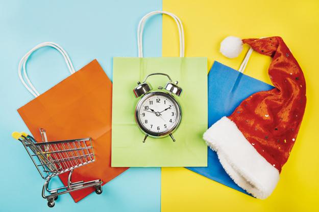 Imagem mostra montagem de vendas de fim de ano